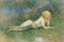 Reclining Nude Shepherdess, Berthe Morisot