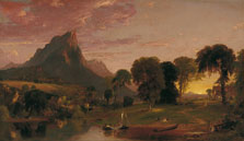 View near Sherburne, Chenango County, New York, Jasper Francis Cropsey