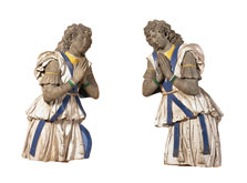 Two Adoring Angels,  Della Robbia (Workshop Of)