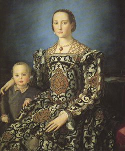Portrait of Leonor de Toledo and her Son, Giovanni