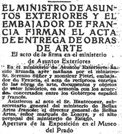 Noticia aparecida en el ABC el 28 de junio de 1941.