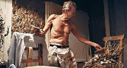 Lucian Freud in his Studio