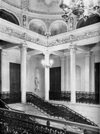 Staircase of the Shuvalov Palace, premises of the Press House in Leningrad in 1927