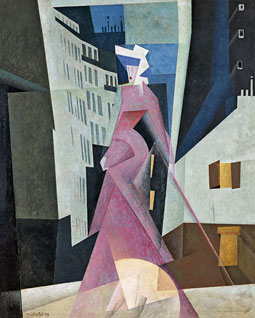 Lyonel Feininger. The Lady in Mauve, 1922. Museo Thyssen-Bornemisza, Madrid