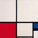 Composición de colores / Composición nº1 con rojo y azul.